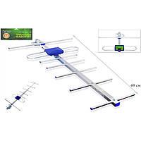 Антенна DVB-T2 Eurosky Фаворит с усилителем 5v 0,7 м (синяя) (50км)