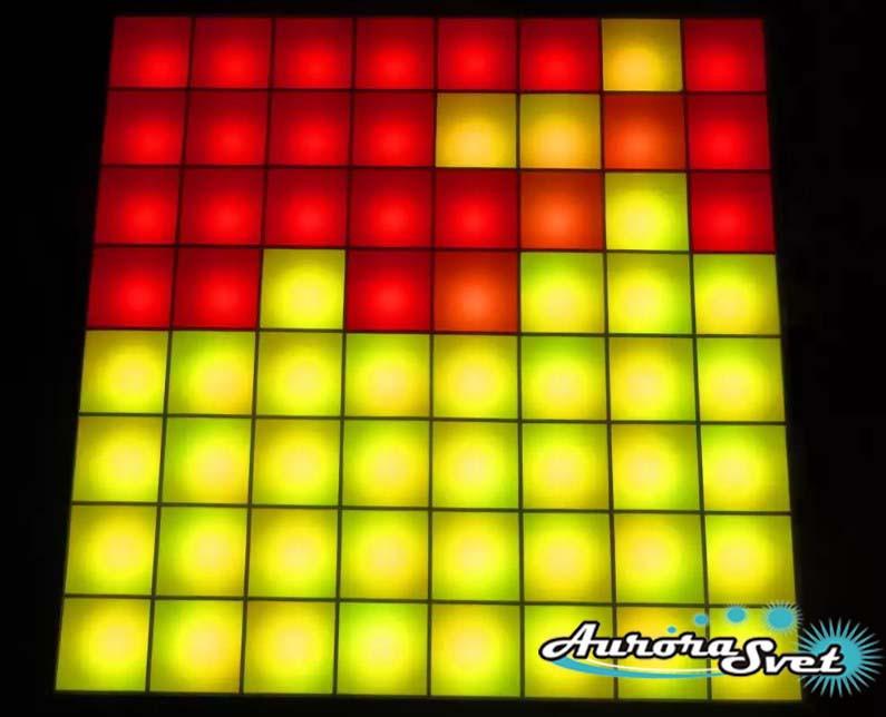 Светодиодная пиксельная панель напольная F-125-8*8-6-P