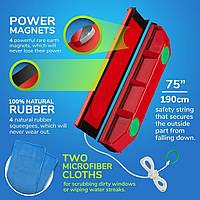 Магнитная щетка для окон Power magnets