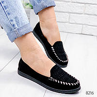 Туфли балетки женские Viva черные 8216
