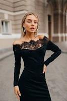 """Платье с кружевом """"Жасмин"""" две расцветки, фото 1"""