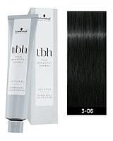 3-06 Перманентная крем-краска для волос Schwarzkopf Professional TBH - Темно-коричневый натуральный шоколадный
