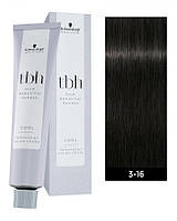 3-16C Перманентная крем-краска для волос Schwarzkopf Professional TBH - Темно-коричневый пепельный шоколадный