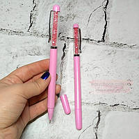 Ручка гелевая со стразами Кристалл, розовая