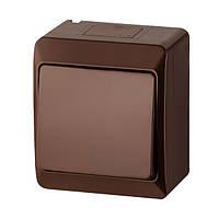 Выключатель 1-клавишный Elektro-Plast Hermes IP44 10А коричневый