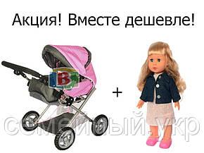Коляска для кукол + кукла Даринка  2в1. Кукла ходит и поет. Язык озвучки: украинский., фото 2
