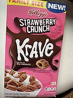 Сухой завтрак клубничные подушечки с шоколадом Kellogg's Krave
