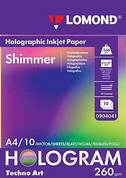 "Бумага с голографическим эффектом ""Shimmer"" (Мерцание), А4, 260 г/м2/10 л"