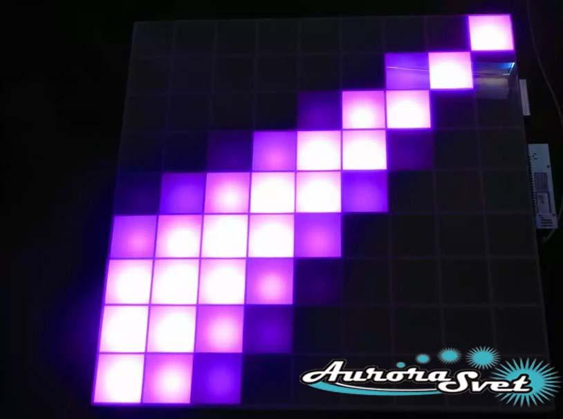 Светодиодная пиксельная панель напольная F-111-9*9-4-D