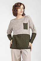 Женский свитер джемпер прямого силуэта oversize оверсайз \ женский свитер большого размера, фото 1