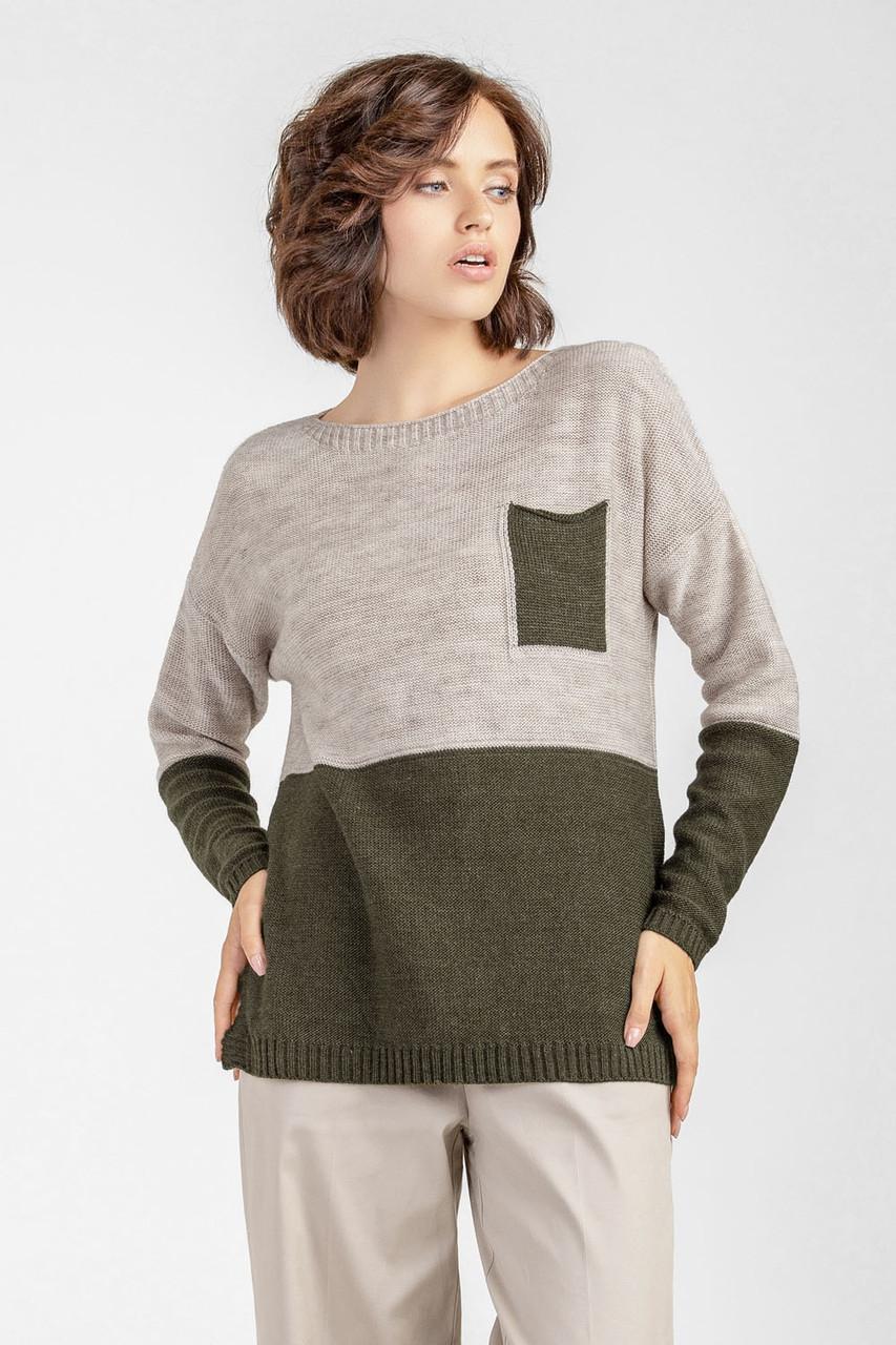 Женский свитер джемпер прямого силуэта oversize оверсайз \ женский свитер большого размера