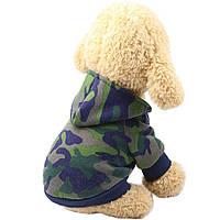 Толстовка для собак «Камуфляж», зеленый