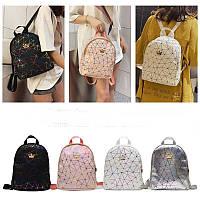 Подростковый геометрический рюкзак с короной Queen для девочек, 4 цвета
