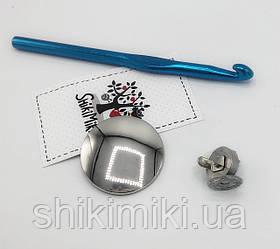 Замок для сумки круглый (на магните) ZM23-1, цвет никель