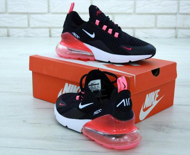 Nike Air Max 270 Black White Red фото