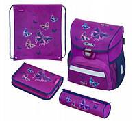 Школьный рюкзак для девочек Herlitz LOOP PLUS Glitter Butterfly