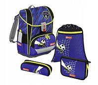 Шкільний рюкзак для хлопчиків HAMA Step By Step LIGHT II SOCCER TEAM + 2 пенала + сумка для спортивного взуття