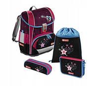 Школьный рюкзак для девочек Hama Step By Step LIGHT II POPST + 2 пенала + сумка для спортивной обуви