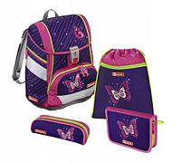 Школьный рюкзак для девочек Hama Step By Step Shiny Butterfly + 2 пенала + сумка для спортивной обуви