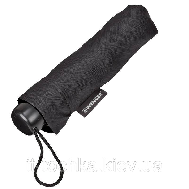 Полуавтоматический зонт wenger 604602 black на три сложения