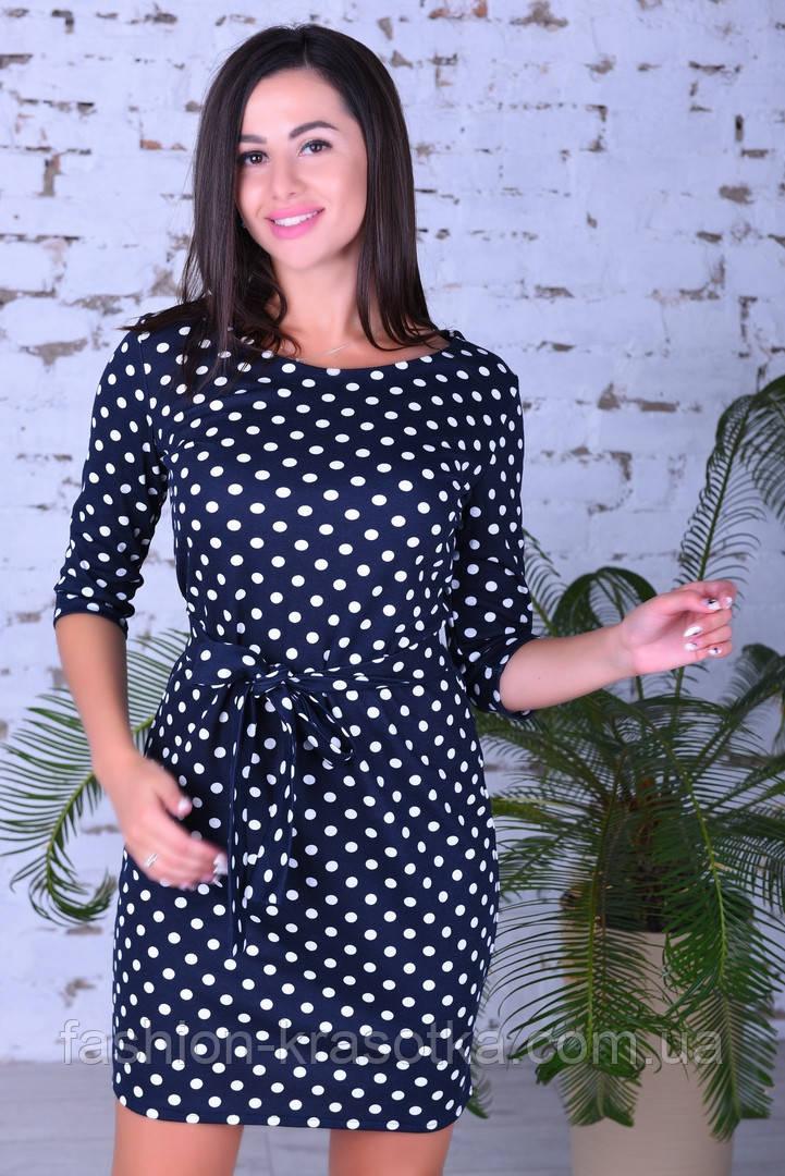 Женское модное платье,ткань французский трикотаж,размеры:44,46,48.