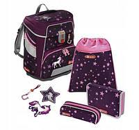 Школьный рюкзак для мальчиков HAMA Step By Step Единорог + 2 пенала + сумка для спортивной обуви