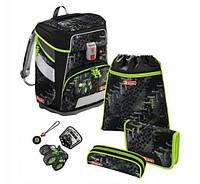 Школьный рюкзак для мальчиков HAMA Step By Step Трактор + 2 пенала + сумка для спортивной обуви