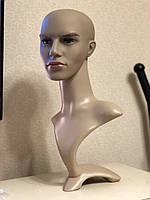 Манекен голова мужская на подставке шея с макияжем