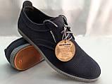 Летние мужские кеды,слипоны на шнурках Bertoni, фото 4