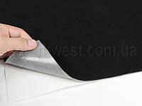 Автовелюр самоклейка черный, на поролоне, лист 58х100см