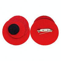 Брошка квітка Червоний Мак 5,5 см символ пам'яті на 8-9 травня. Оптом і в роздріб.