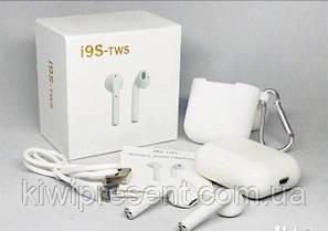 Беспроводные наушники i9 TWS White, аналог AirPods (блютуз гарнитура), фото 2