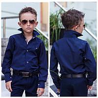 Школьная рубашка для мальчика белая,синяяот116-до152рост, фото 1