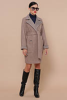Стильне демісезонне жіноче шерстяне пальто, фото 1