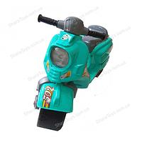 Беговел (велобег) скутер бирюзовый, фото 1