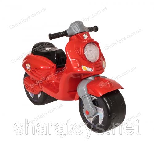 Беговел скутер красный