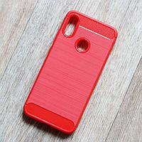 """Противоударный чехол для Xiaomi Redmi Note 7 (red """"Carbon""""), фото 1"""