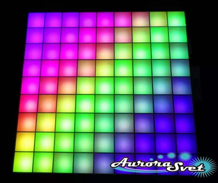 Светодиодная пиксельная панель напольная F-111-9*9-6-P