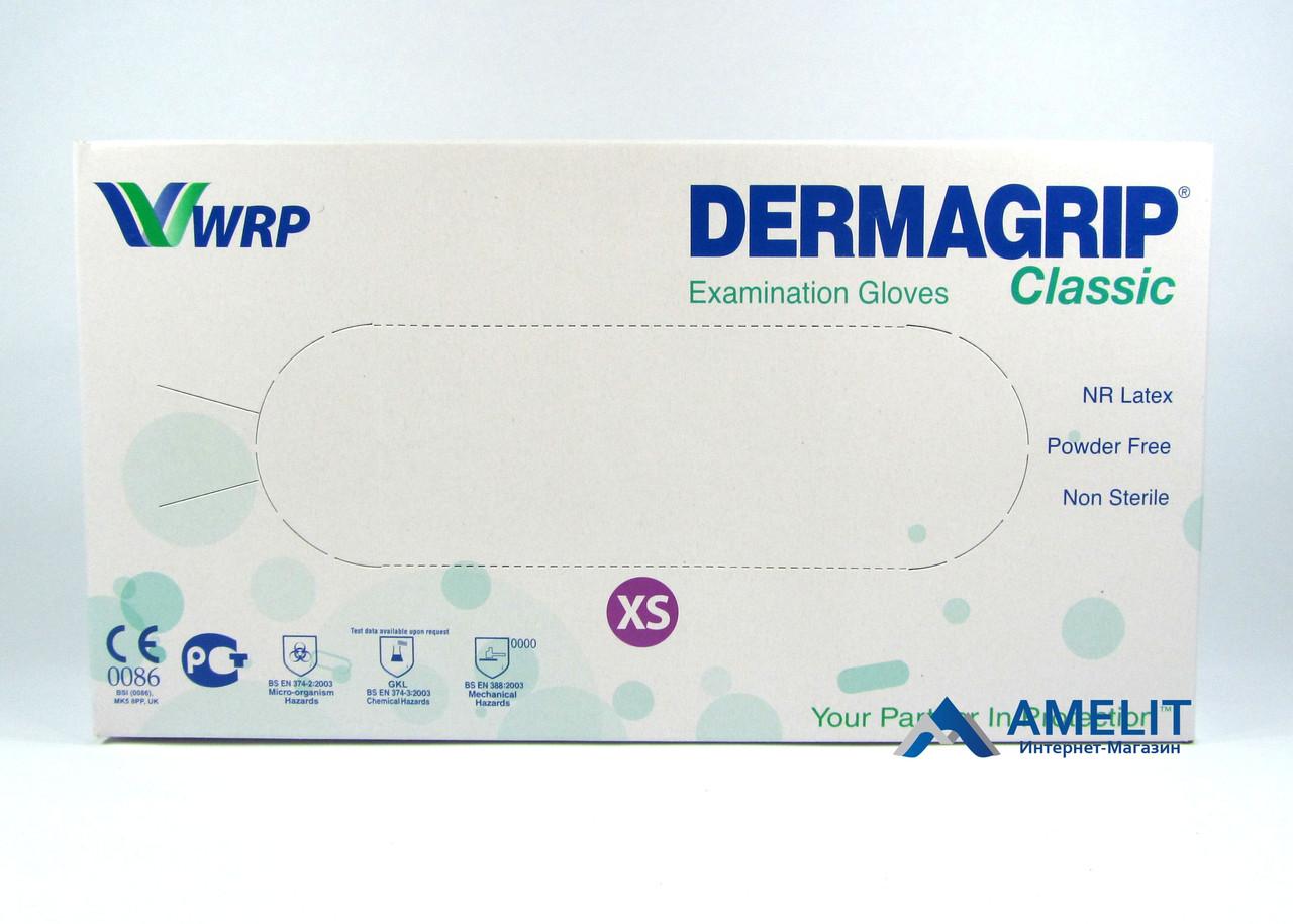 Перчатки латексные ДермаГрип Классик (DermaGrip Classic, WRP), размер «XS», 50пар/упак.