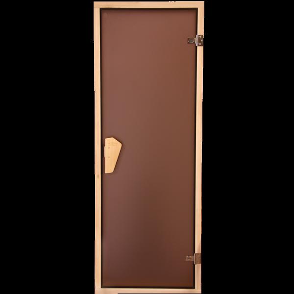 Дверь для сауны и бани 180*70 (тон бронза)