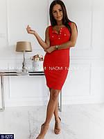 Летнее платье красное, 4 расцветки, фото 1