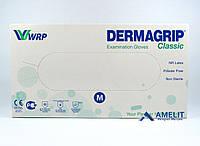 """Перчатки латексные ДермаГрип Классик (DermaGrip Classic,WRP), размер """"M"""", текстурированные, 50пар/упак."""