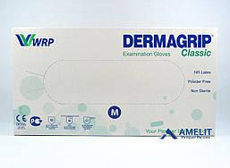 """Перчатки латексные ДермаГрип Классик, """"М"""", текстурированные (DermaGrip Classic, WRP), 50пар/упак."""