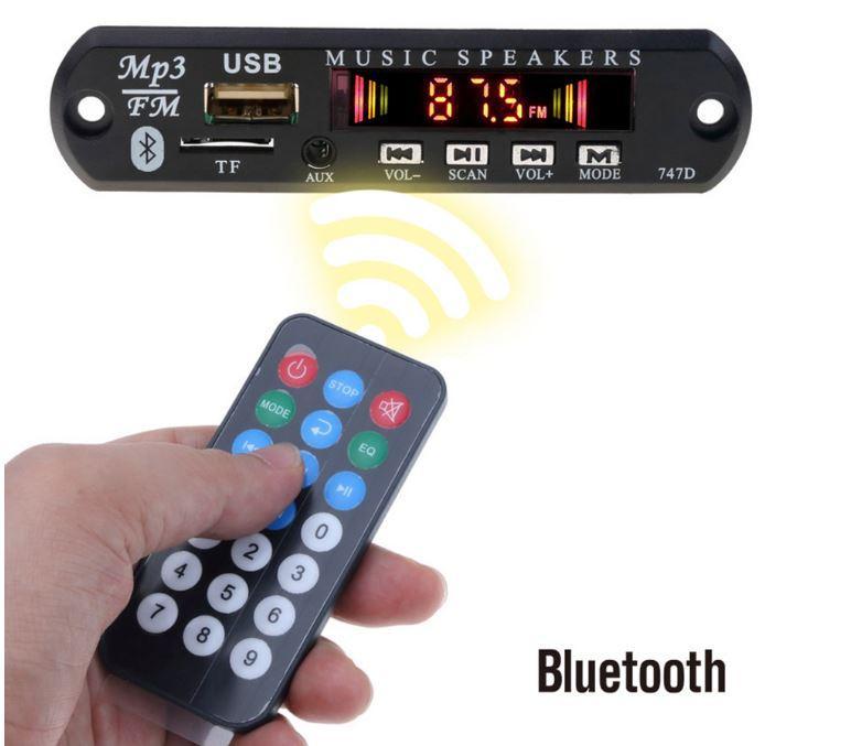 Mp3 декодер FM радио Bluetooth TF USB 3,5 мм AUX модуль приемник + пульт 5-12V