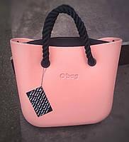 Женская сумка O bag mini в персиковом корпусе с разными вариациями аксессуаров
