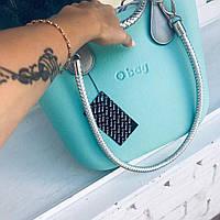 Женская сумка O bag mini в мятном корпусе с разными вариациями аксессуаров