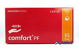 """Перчатки латексные Комфорт ПФ, """"XS"""", текстурированные (Comfort PF, Mercator Medical), 50пар/упак."""