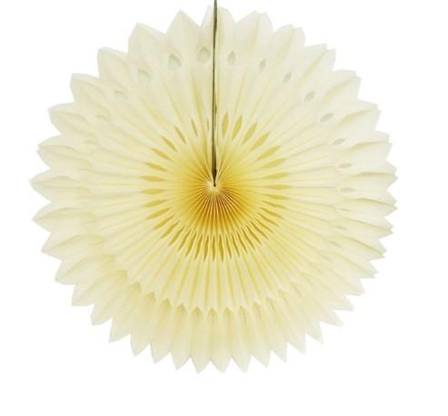 Гирлянда веер айвори - диаметр 20см