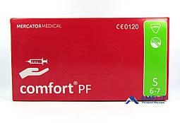 """Перчатки латексные Комфорт ПФ, """"S"""", текстурированные (Comfort PF, Mercator Medical), 50пар/упак."""