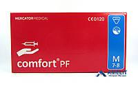 """Перчатки латексные Комфорт ПФ, """"М"""", текстурированные (Comfort PF, Mercator Medical), 50пар/упак., фото 1"""